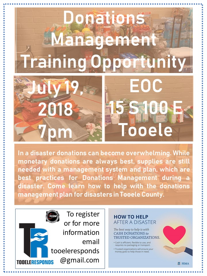 Training Information   Tooele County Emergency Management